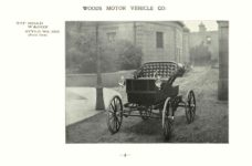 ca. 1903 WOODS Woods Motor Vehicle Co. CHICAGO & NEW YORK ELECTRIC CARRIAGES TOP ROAD WAGON – Style No. 225 (Front View) 7.75″5.25″ folded page 4