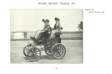ca. 1903 WOODS Woods Motor Vehicle Co. CHICAGO & NEW YORK ELECTRIC CARRIAGES BREAK – Style No. 222 7.75″5.25″ folded page 7