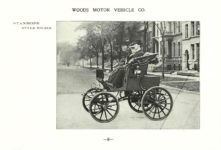 ca. 1903 WOODS Woods Motor Vehicle Co. CHICAGO & NEW YORK ELECTRIC CARRIAGES STANHOPE – Style No. 215 7.75″5.25″ folded page 8