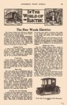 1913 1 WOODS The New WOODS Electrics IN THE WORLD OF the ELECTIC AUTOMOBILE TRADE JOURNAL Jan 1913 6″x9.5″ page 163
