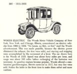 1915 WOODS Electric Automobiles of the World By Albert L. Lewis and Walter A. Musciano DRAWINGS BY: Bjorn Karlstrom, Gary W. Musciano, Douglas Rolfe, Robert Godden Simon and Schuster New York 1977 ISBN: 0-671-22485-9 5.5″x8.5″ page 262