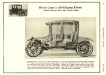 1916 5 13 WOODS Electric Woods Coupe is Self-Charging Electric Woods Motor Vehicle Co. Chicago, ILL AUTOMOBILE TOPICS May 13, 1916 8″x10.75″ page 24