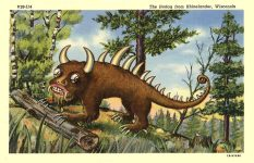 jackalopes_potpourri_jackalope postcards_Jackalope OTHER PC_HodagLinenPCV28-114