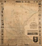 1867 POWER & THORNTON'S Civil & Congressional Township Map OF MINNESOTA ASHER & ADAMS Minneapolis, Minn. 1867 68″x73″ (5'8″x6'1″)