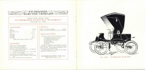 1902 ca. STUDEBAKER ELECTRIC VEHICLES Catalogue No. 209 Studebaker Bros. Mfg. Co. South Bend, Indiana pages 10 & 11