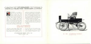 1902 ca. STUDEBAKER ELECTRIC VEHICLES Catalogue No. 209 Studebaker Bros. Mfg. Co. South Bend, Indiana pages 2 & 3