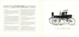 1902 ca. STUDEBAKER ELECTRIC VEHICLES Catalogue No. 209 Studebaker Bros. Mfg. Co. South Bend, Indiana pages 4 & 5