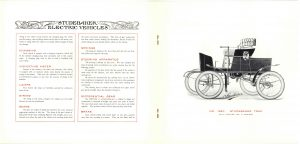 1902 ca. STUDEBAKER ELECTRIC VEHICLES Catalogue No. 209 Studebaker Bros. Mfg. Co. South Bend, Indiana pages 6 & 7