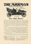 1906 MARMON Model F, 35 H.P., $3500 The Easiest riding Car in the World Nordyke & Marmon Company Indianapolis, Indiana HARPER'S MAGAZINE ADVERTISER 1906