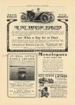 """1907 12 6 """"AMERICAN"""" ROADSTER """"NO NOISE BUT THE WIND"""" AMERICAN MOTOR CAR COMPANY INDIANAPOLIS,IND HARPER'S MAGAZINE ADVERTISER"""