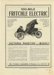 1908 11 12 FRITCHLE Electric 100-MILE VICTORIA PHAETON —$2000 page 98