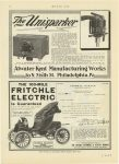 1909 1 21 FRITCHLE Electric THE 100-MILE FRITCHLE ELECTRIC Is Guaranteed page 72