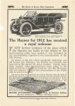 1911 11 HAYNES The Haynes for 1912 has Received a royal Welcome Haynes Automobile Company Kokomo, Indiana The Reveiw of Reviews Motor Department page 91