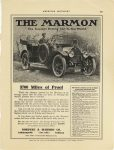 1911 10 MARMON 3700 Miles of Proof Nordyke & Marmon Company Indianapolis, Indiana AMERICAN MOTORIST October, 1911 page 627