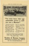 """1911 MARMON """"You never know what real automobile service is until you own a Marmon!"""" Nordyke & Marmon Company Indianapolis, Indiana CYCLE ANS AUTO-TRADE JOURNAL 1911 page 20"""