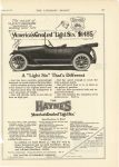 "1914 8 29 HAYNES AMERICA'S GREATEST ""Light Six"" $1485 A ""Light Six"" That's Different Haynes Automobile Company Kokomo, Indiana The Literary Digest August 29, 1914 page 397"