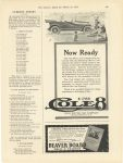 1915 3 13 Now Ready COLE 8 $1785.00 COLE MOTOR CAR COMPANY INDIANAPOLIS U.S.A. The Literary Digest page 563