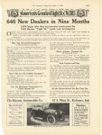 "1915 6 5 HAYNES America's Greatest ""Light Six"" $1385 646 New Dealers in Nine Months Haynes Automobile Company Kokomo, Indiana The Literary Digest June 5, 1915 page 1359"