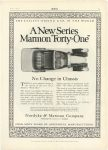 """1915 7 MARMON A New Series Marmon """"Forty-one"""" Nordyke & Marmon Company Indianapolis, Indiana MoToR July, 1915 page 23"""