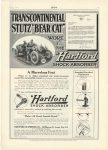 "1915 7 STUTZ"" WORE THE Hartford SHOCK ABSORBER Stutz Motor Car Co. Indianapolis, Indiana MoToR July, 1915 page 27"