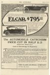 1916 10 12 ELCAR The Class of the Field Under $1000 ELCAR $795 ELCAR ELKHART CARRIAGE & MOTOR CAR CO. Elkhart, Indiana THE AUTOMOBILE October 12, 1916 page 72