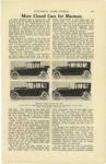 1916 8 MARMON More Closed Car for Marmon Nordyke & Marmon Company Indianapolis, Indiana AUTO TRADE JOURNAL August, 1916 page 231