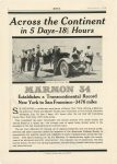 1916 9 MARMON Across the Continent in 5-Days – 181/2 Hours Nordyke & Marmon Company Indianapolis, Indiana MoToR September, 1916 page 6