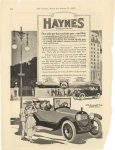 "1917 8 25 HAYNES ""America's Greatest Light Six"" is the Car for You! Haynes Automobile Company Kokomo, Indiana The Literary Digest August 25,1917 page 104"