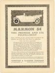 1917 1 13 MARMON MARMON 34 – THE PROMISE AND IT'S FULFILLMENT Nordyke & Marmon Company Indianapolis, Indiana Inside cover