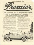 1917 5 12 PREMIER Premier – The Aluminium Six with Magnetic Gear Shift Premier Motor Corporation, Indianapolis, Indiana THE SATURDAY EVENING POST May 2, 1917