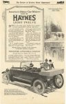 1918 7 HAYNES America's Oldest Car-Maker build HAYNES LIGHT TWELVE Haynes Automobile Company Kokomo, Indiana The Review of Reviews Motor Department July, 1918 page 69
