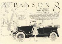 1919 3 APPERSON 8 APPERSON BROTHERS AUTOMOBILE COMPANY KOKOMO INDIANA