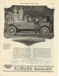 1920 5 22 AUBURN Beauty SIX AUBURN AUTOMOBILE COMPANY AUBURN, INDIANA SATURDAY EVENING POST page 84