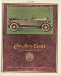 1920 4 1 Sportster Cole-Aero EIGHT THE CRITERION OF MOTOR CAR FASHIONS GREATER PERFORMANCE EFFICIENCY COLE MOTOR CAR COMPANY, INDIANAPOLIS U.S.A. LIFE