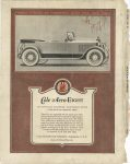1920 5 26 THERE'S A TOUCH OF TOMORROW IN ALL COLE DOES TODAY Cole Aero-EIGHT MECHANICALLY ADVANCED-FAULTLESSLY FITTED, 15,000 MILES ON ORGINAL TIRES COLE MOTOR CAR COMPANY, INDIANAPOLIS U.S.A. Back Cover