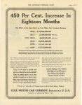 1920 8 14 450 Per Cent Increase IN Eighteen Months. The Effect of the Aero-EIGHT on Cole Motor Car Company Business COLE MOTOR CAR COMPANY INDIANAPOLIS, U.S.A. THE SATURDAY EVENING POST page 64