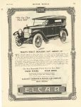 "1920 5 26 ELCAR ""The Car That Stays Sold"" THAT'S WHAT DEALERS SAY ABOUT IT. ELCAR ELKHART CARRIAGE & MOTOR CAR CO. Elkhart, Indiana MOTOR WORLD May 26,1920 page 93"