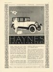 1921 3 HAYNES HAYNES CHARACTER CARS BEAUTY – STRENGTH – POWER – COMFORT Haynes Automobile Company Kokomo, Indiana MOTOR March, 1921 page 67