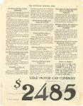 1922 3 25 No Car at Any Price is Better Engineered….Continued Article from page 78 COLE MOTOR CAR COMPANY, INDIANAPOLIS U.S.A. THE SATURDAY EVENING POST page 79