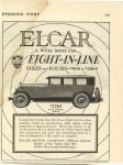 1925 1 24 ELCAR ELCAR A WELL BUILT CAR EIGHT-IN-LINE SIXES and FOUR $995 to $2865 ELCAR ELKHART MOTOR COMPANY Elkhart, Indiana THE SATURDAY EVENING POST January 24, 1925 page 145