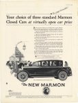 1925 3 MARMON Your choice of three Standard Marmon Closed Cars at virtually open car price Nordyke & Marmon Company Indianapolis, Indiana Vanity Fair March, 1925 page 2