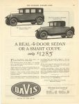 1926 3 13 A REAL 4-DOOR SEDAN OR A SMART COUPE only $1,285 DAVIS George W. Davis Motor Car Co., Richmond, Indiana March 13, 1926 THE SATURDAY EVENING POST page 135