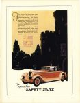 1927 STUTZ The Improved New SAFETY STUTZ Stutz Motor Car Company of America, Inc. Indianapolis, Indiana color