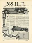 1928 12 DUESENBERG Duesenberg 265 Horse Power Car 116 Miles Per Hour By Harold F. Blanchard MoToR page 40