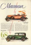 """1928 12 MARMON MARMON """"78"""" MARMON """"68"""" Marmon Motor Car Company Indianapolis, Indiana December, 1928 page 12"""