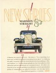 1928 9 21 MARMON New series MARMON STRAIGHT 8's Marmon Motor Car Company Indianapolis, Indiana September 21, 1928 Inside cover