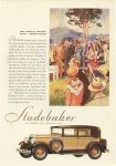 1929 8 17 STUDEBAKER The National Amateur Meet…Pebble Beach STUDEBAKER BUILDER OF CHAMPIONS Studebaker South Bend, Indiana August 17, 1929 color advertisement
