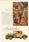 1929 ca. STUDEBAKER BAL MASQUES AT THE BEACH AND TENNIS CLUB PALM BEACH, FLORIDA STUDEBAKER BUILDER OF CHAMPIONS Studebaker South Bend, Indiana 1929 color advertisement