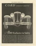 1930 11 29 CORD FRONT DRIVE Also Exclusive in Safety Cord AUBURN AUTOMOBILE COMPANY, AUBURN, INDIANA page 37