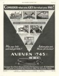 1933 3 18 CONSIDER what you GET for what you PAY AUBURN $745 AUBURN AUTOMOBILE COMPANY AUBURN INDIANA THE SATURDAY EVENING POST page 60
